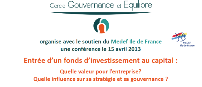 Entrée d'un fonds d'investissement au capital